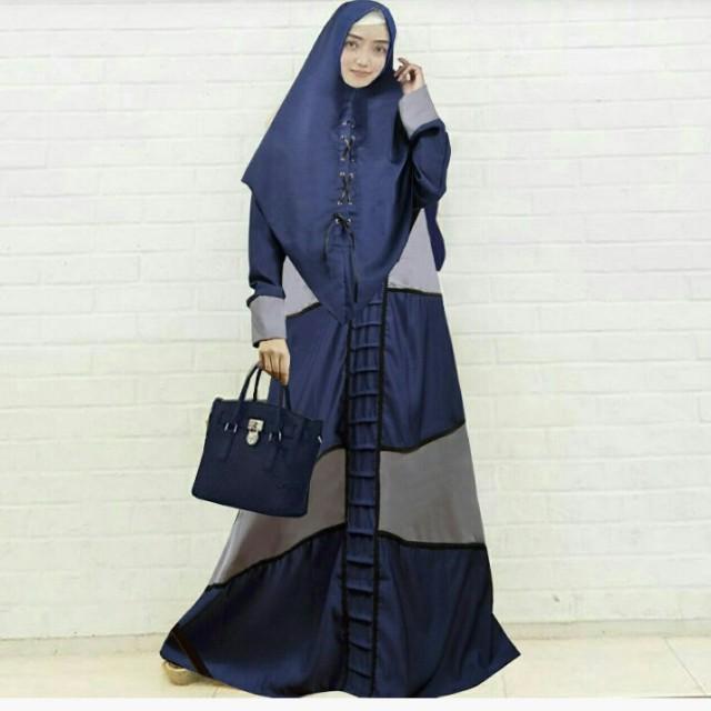 NEW!!! Hm a05 kyana navy busana muslim wanita