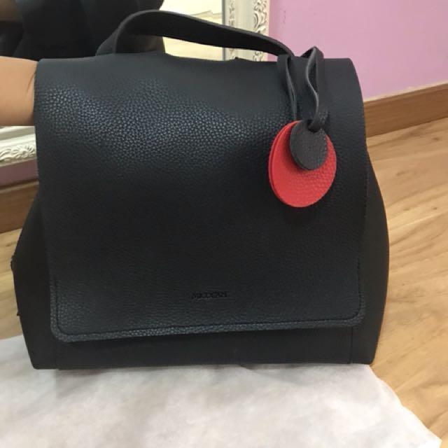 New korea black backpack