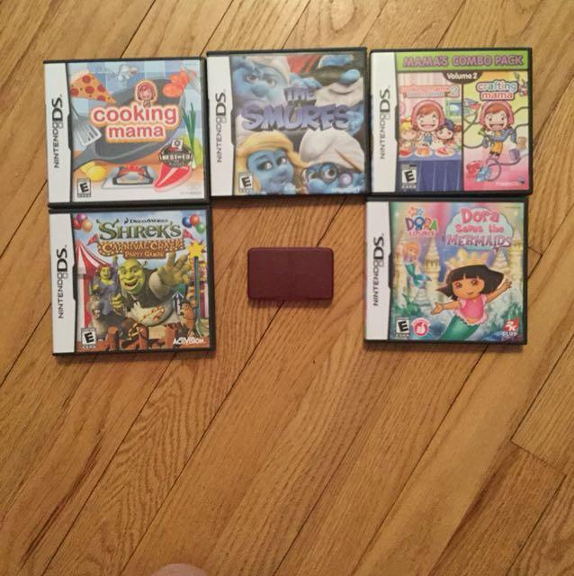 Nintendo DS games + case