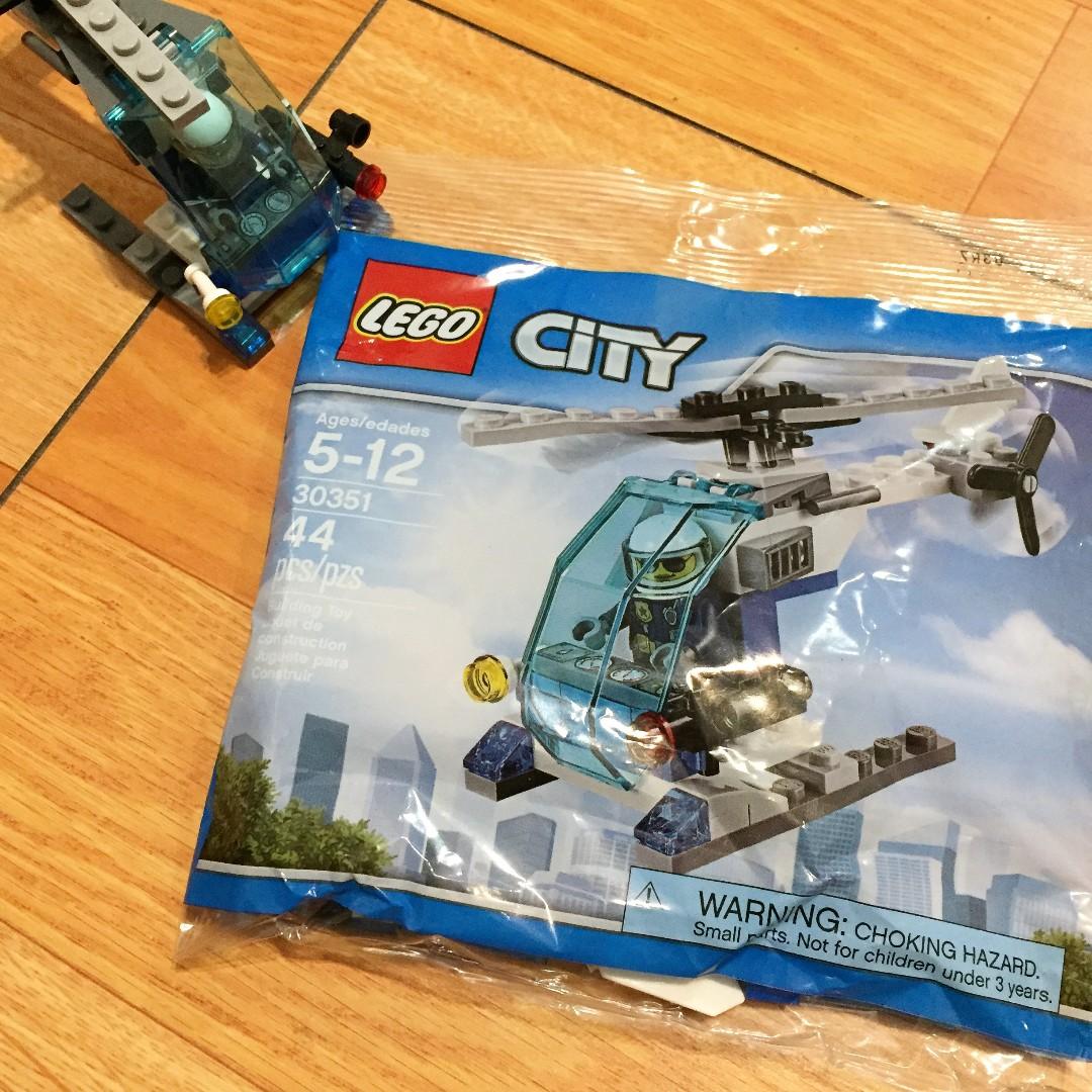 :::OH YEAH!:::『現貨』美國🇺🇸Lego樂高 城市系列 直升機與飛行員 5至12歲 30351 44片生日禮物