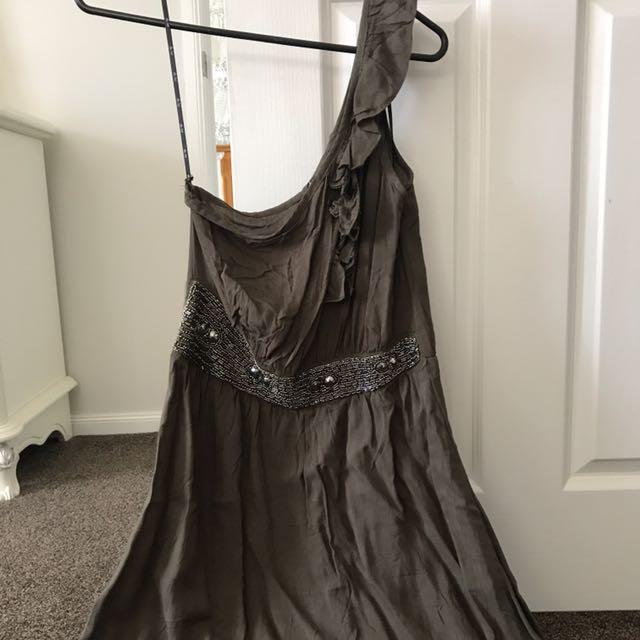 One arm maxi dress size 8