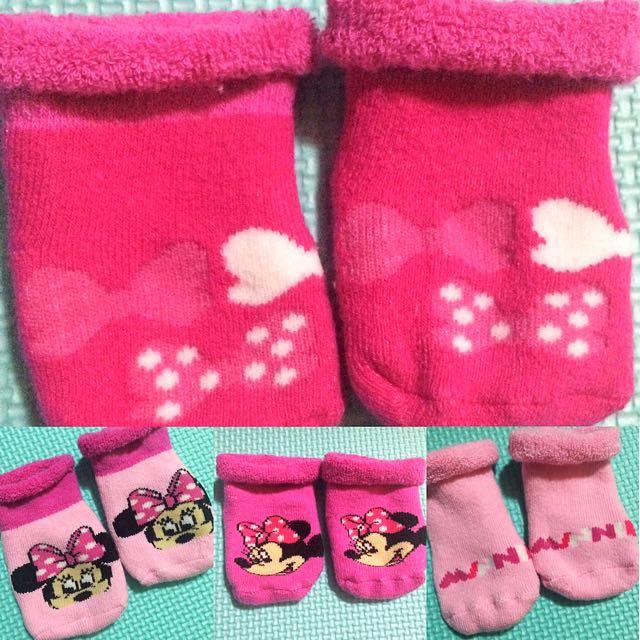 Original Disney Minnie Mouse Newborn Socks (4 Pairs)