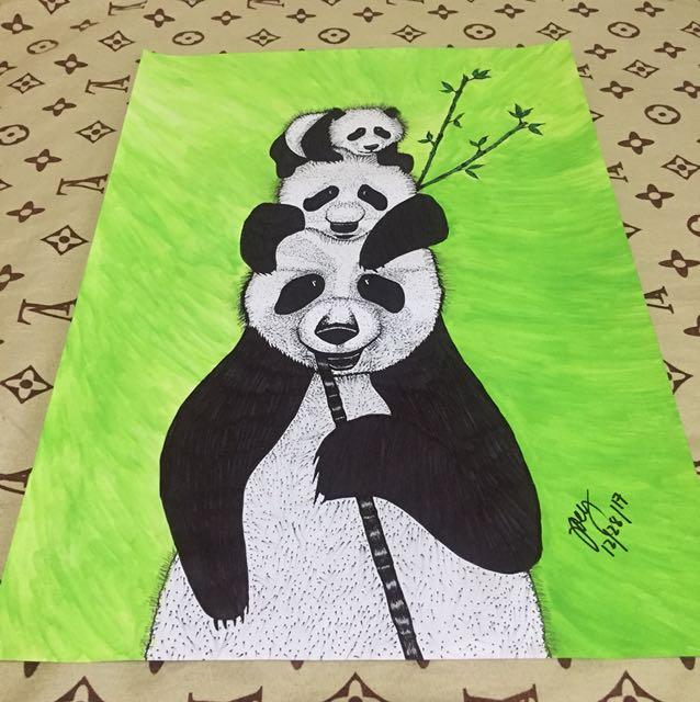 Panda Family artwork