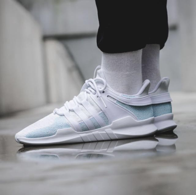 0797cdab5cac49 Parley x Adidas EQT Support ADV - White Icey Blue)