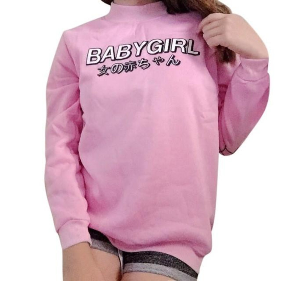 """PINK """" BABY GIRL """" CREWNECK - BRAND NEW IN PACKAGE ( SIZE S)"""