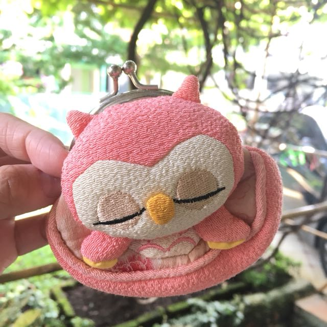 Pink Owl Coins Purse