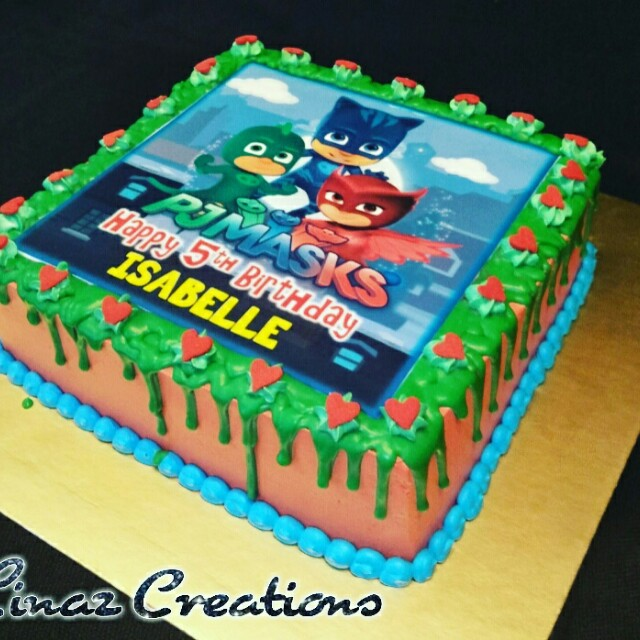 1kg Pj Mask Birthday Cake Need A CUSTOMISED CAKE Contact Us At