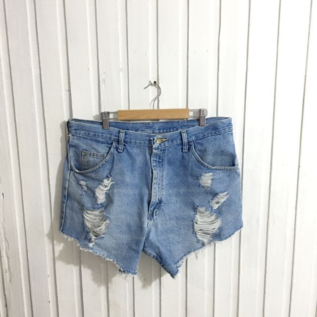 795a3c7dc14 Plus Size Wrangler Ripped Denim Short