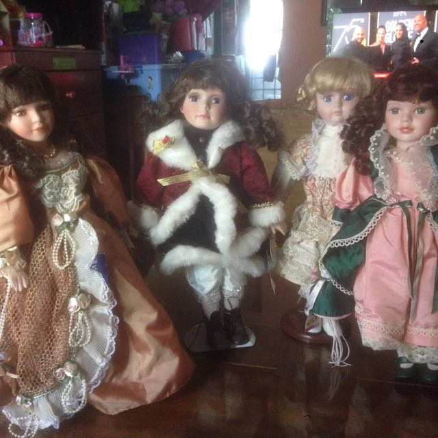 porcelin doll with tag rm45 each