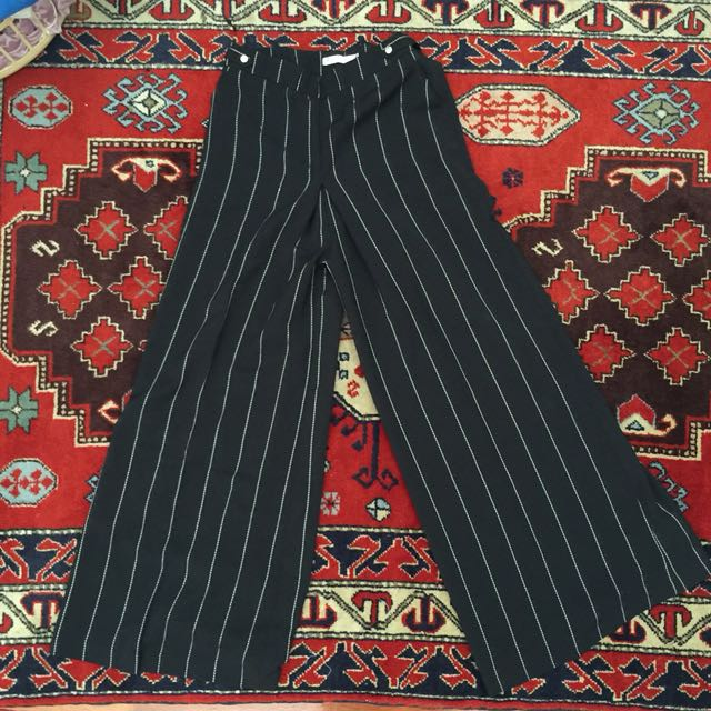 Preloved FV Basics stripe palazzo pants