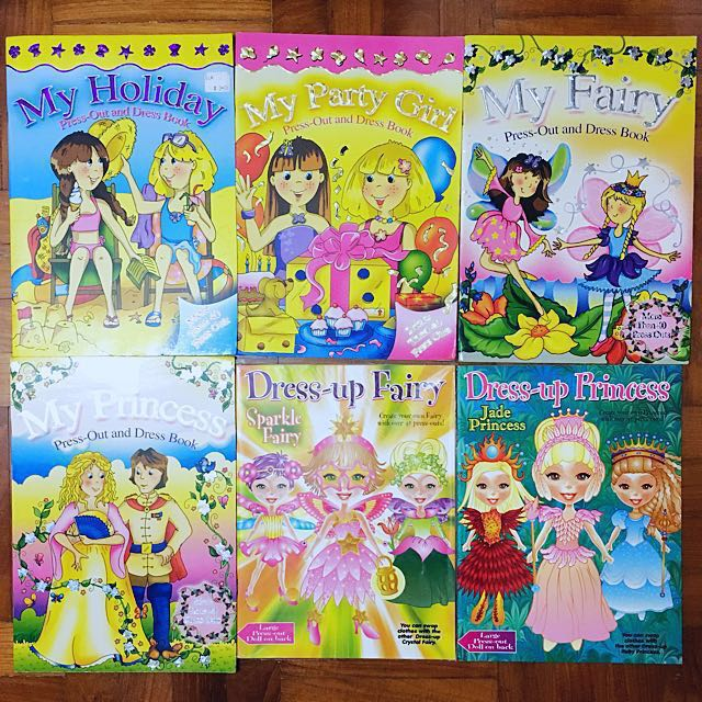 press-out and dress-up books (many themes available!!)