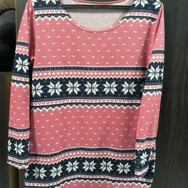 Printed Pull over ( Winter Pink )
