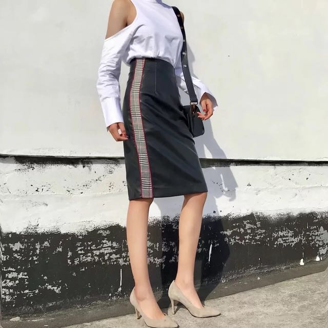 Pu leather Bodycon Skirt