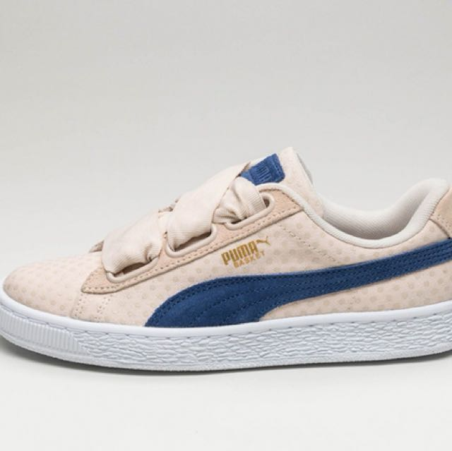 f63666a9e2ef Puma Basket Heart Denim Oatmeal blue