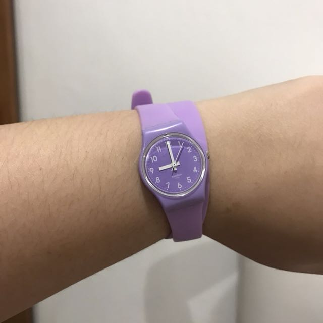 Purple swatch twist AUTHENTIC, Fesyen Wanita, Jam Tangan .
