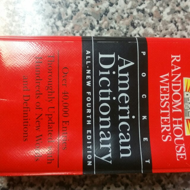 Random House Webster Pocket American Dictionary Book