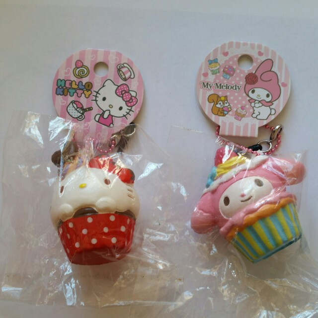 RARE Hello Kitty My Melody Squishies