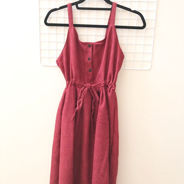 Red buttoned dress from korea