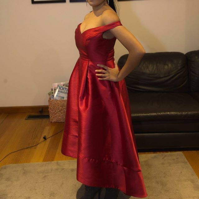 Red formal dress for hire