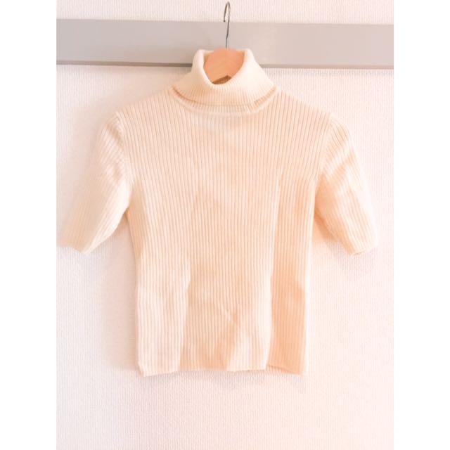 🇯🇵reve de bijoux直坑條短袖針織毛衣