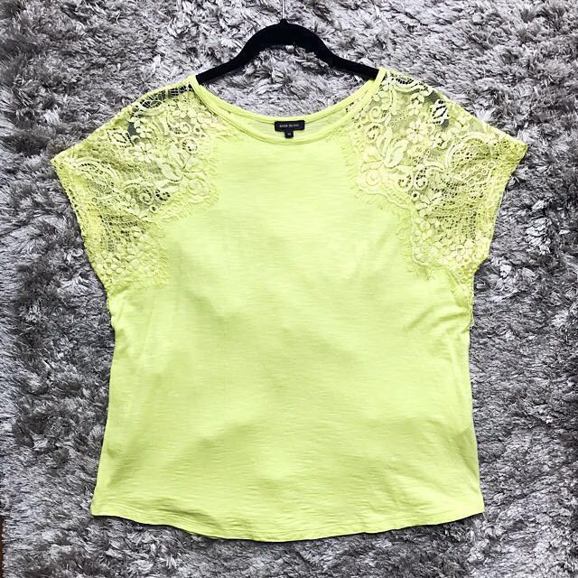 River Island Lace Sleeves Top (M)