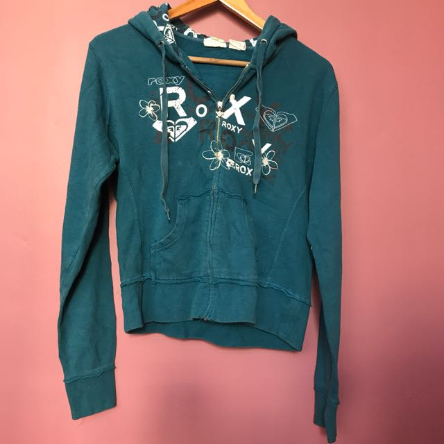 Roxy Blue Zipper Jacket