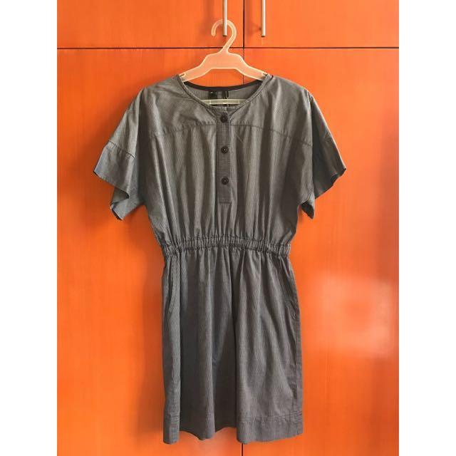 SALE: Mango Striped Chambray Dress
