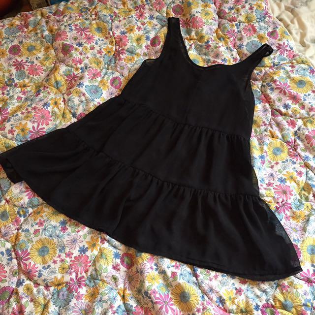Sheer black flowing dress
