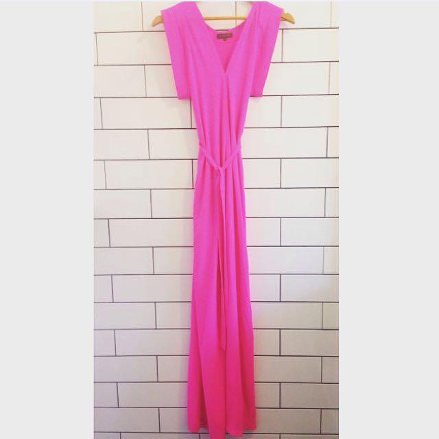 Sheike Fierce Hot Pink Maxi Dress