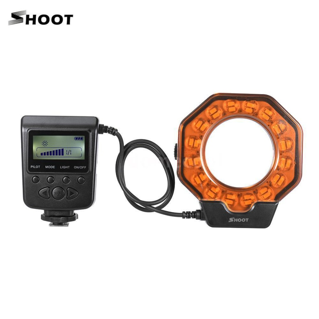 SHOOT XT-103C LED Macro Ring LED Light for DSLR / Mirrorless Camera