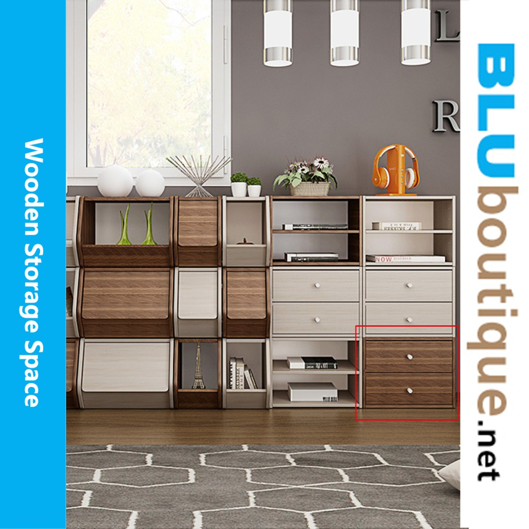Simple wooden drawers WC006 #not ikea (1 set only)