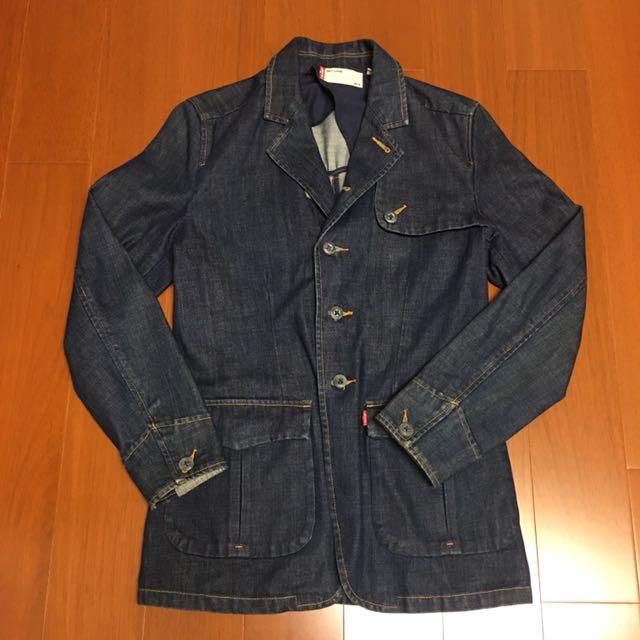 (size 美版s) Levi's 復古修身牛仔西裝外套