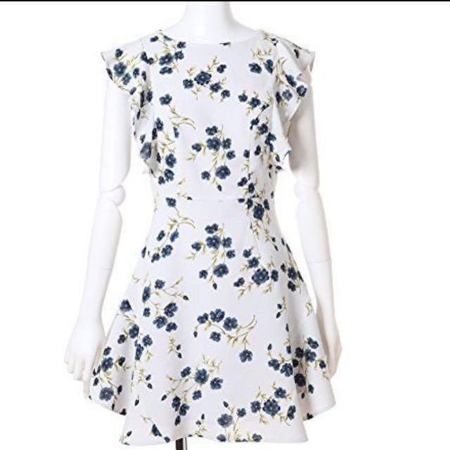 Snidel 荷葉花柄洋裝