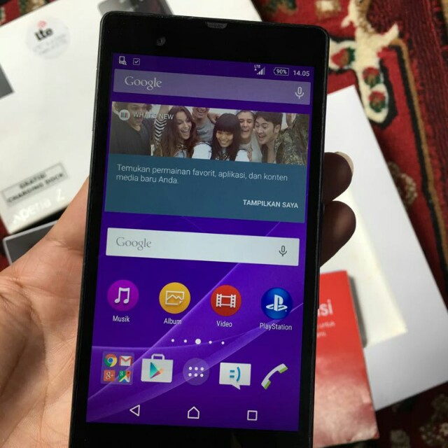 Sony Xperia Z LTE C6603 Black Ex Resmi Fulset Mulus 96%