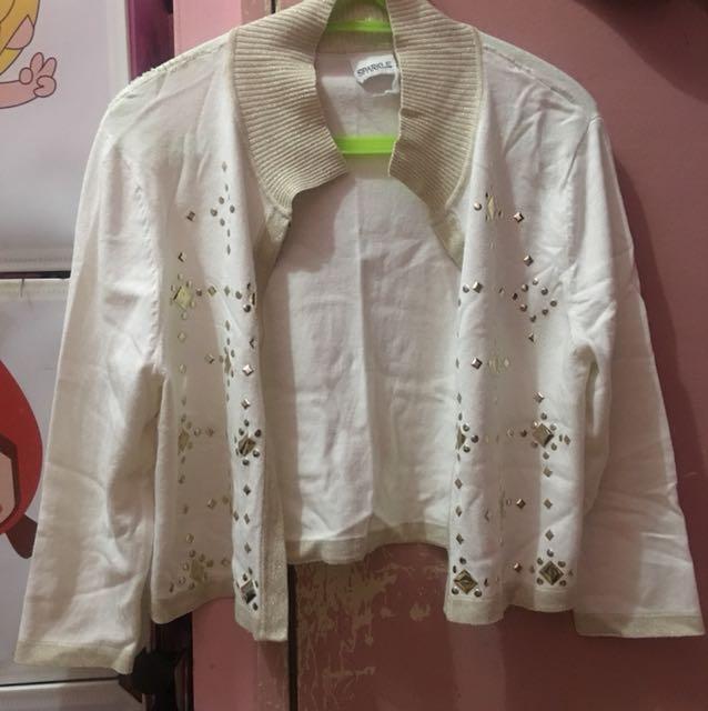 Sparkle blazer blouse