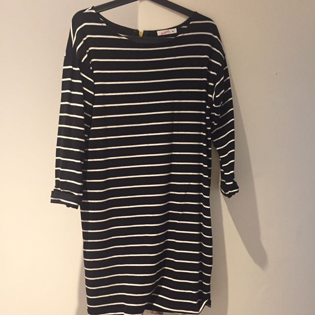 Striped basic dress