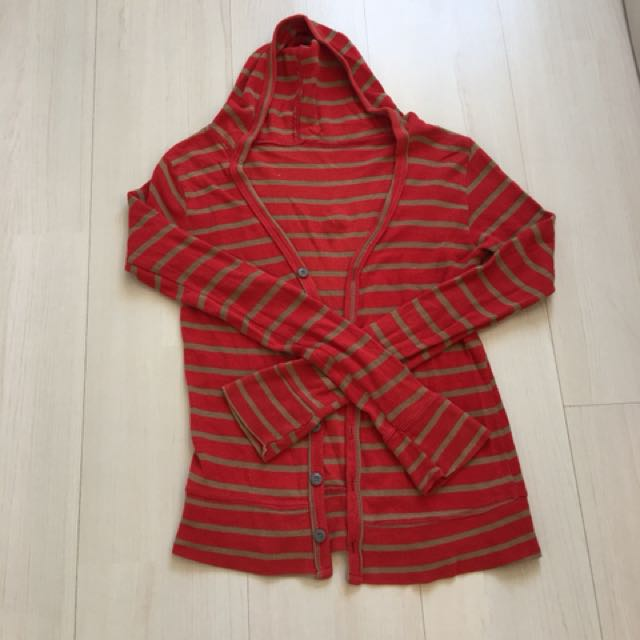 Striped hoodie free size