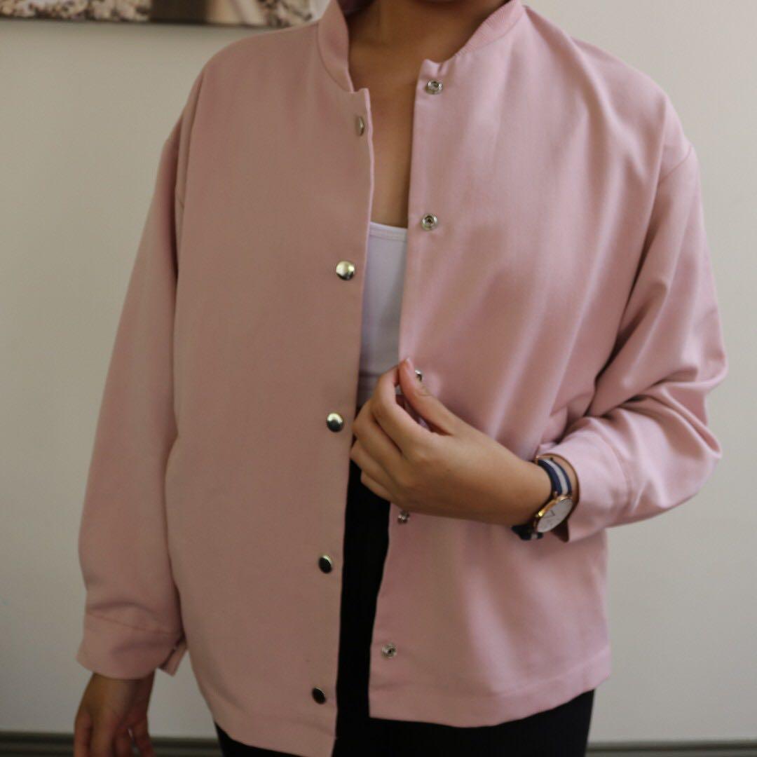 Studio K Light Pink Bomber Jacket
