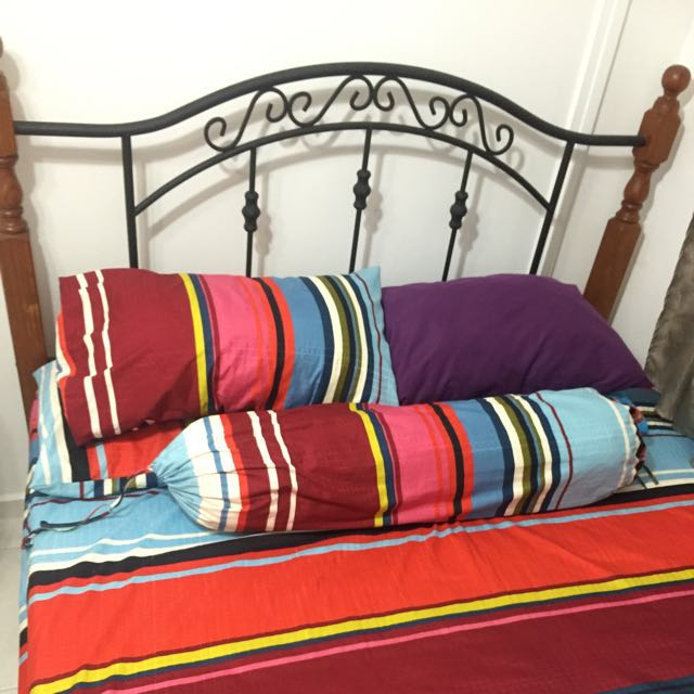 Sturdy Queen Size Bed Frame Bulletin Board Looking For On Carousell