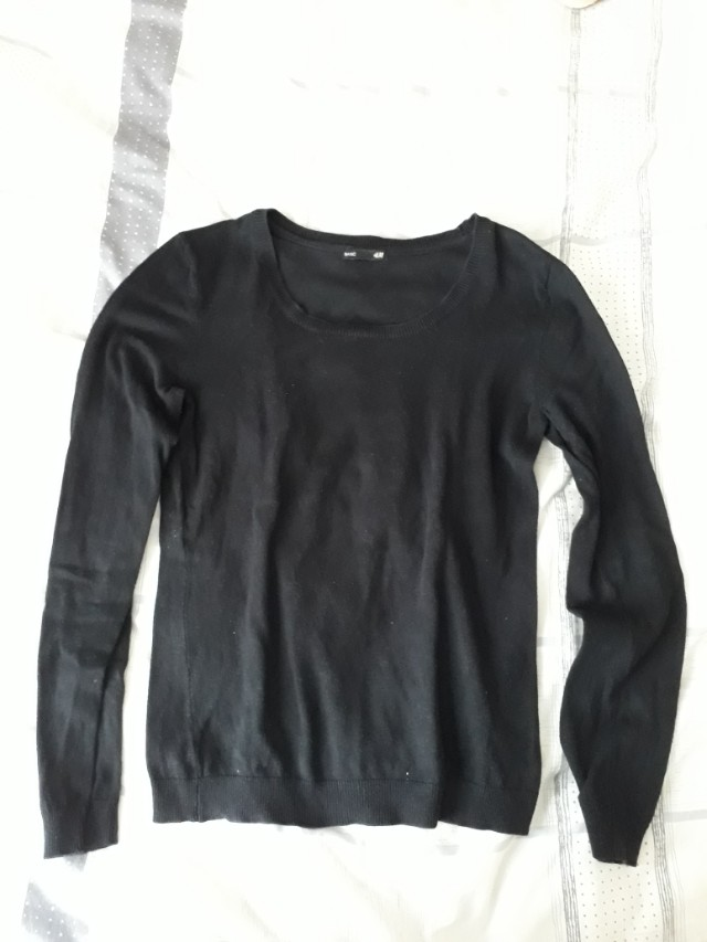 Sweater knit black by hnm