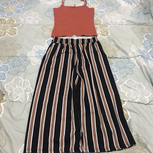 Terno set crop top and square pants