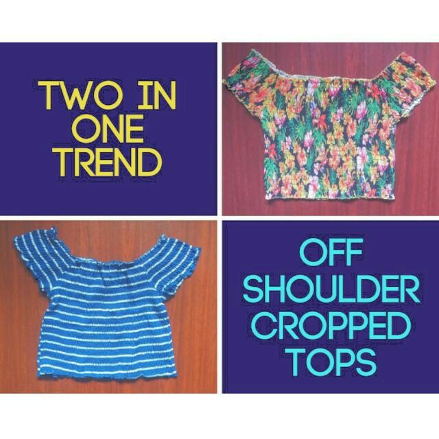 Trendy Off Shoulder Crop Tops