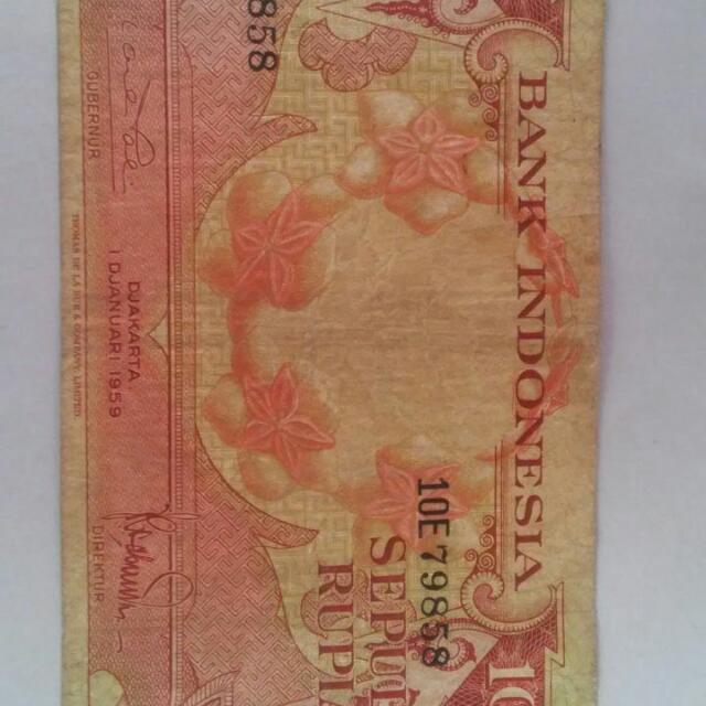 Uang Kertas Rp.10  Th. 1959