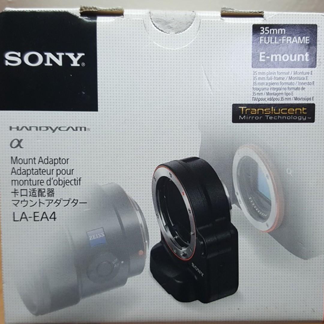 Used: Sony LA-EA4 A-mount to E-mount full frame lens adaptor ...