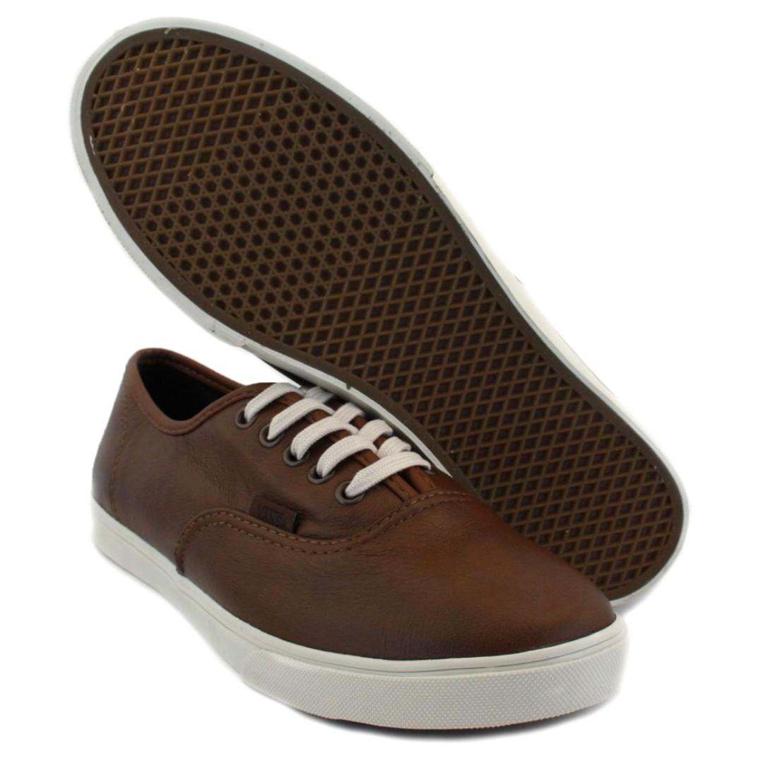 vans authentic lo pro aged leather
