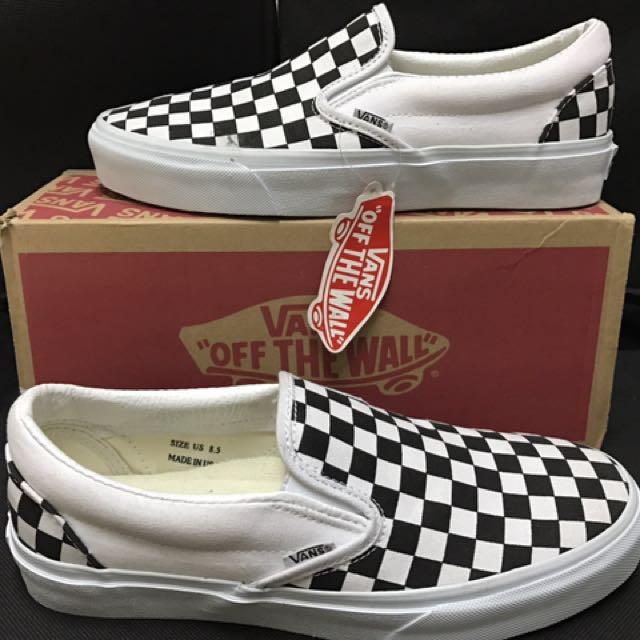 Vans OG Classic Slip-On LX Checkeredboard Black/White