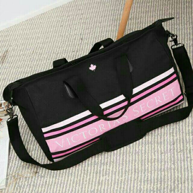 Victoria secret black cavans travel bag