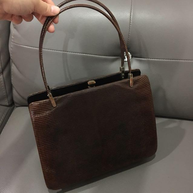 Vintage Lizard skin handbag 1950s