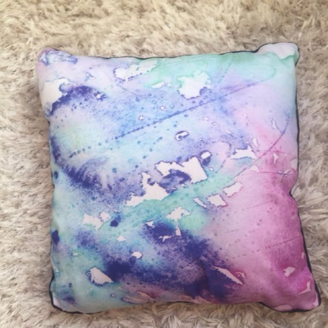 Watercolor pillow