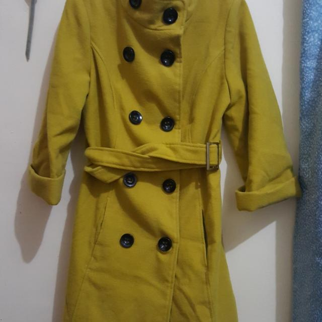 Yellow Mustard colored Trench Coat